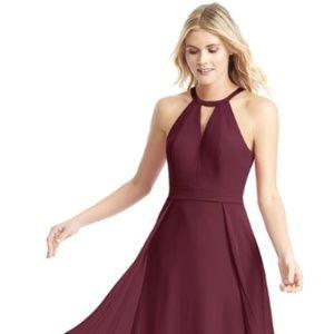 Azazie Melody Cabernet Bridesmaid Dress Size: 0
